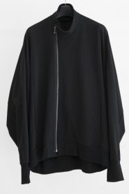 予約商品 JULIUS(ユリウス)  COTTON SWEAT COVERED NECK EASY JACKET (BLACK)