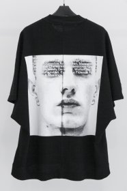 予約商品 JULIUS(ユリウス)  COTTON WAFFLE PRINT KITE T-SHIRTS (BLACK)
