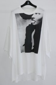 NILøS(ニルズ) COTTON JERSEY JUDITH BIG T-SHIRT (BLACK/WHITE)