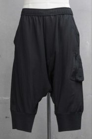 予約商品 JULIUS(ユリウス) RY/CO CLOTH MILITARY CROTCH PANTS (BLACK)