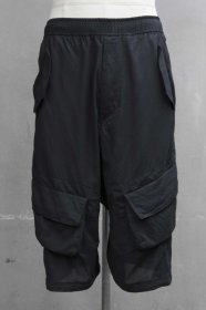 予約商品 JULIUS(ユリウス) CO LAWN CARGO CROTCH PANTS (BLACK)