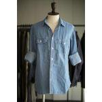 <img class='new_mark_img1' src='//img.shop-pro.jp/img/new/icons16.gif' style='border:none;display:inline;margin:0px;padding:0px;width:auto;' />junhashimoto  denim like linen  GAP WORK SHIRTS   (U.BLUE)