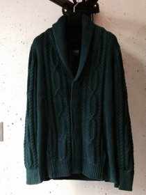 <img class='new_mark_img1' src='//img.shop-pro.jp/img/new/icons16.gif' style='border:none;display:inline;margin:0px;padding:0px;width:auto;' />ATM7  Sandblaster    cotton  cable shawl cardigan    (BLUE GREEN/WINE)