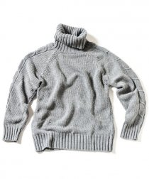 <img class='new_mark_img1' src='https://img.shop-pro.jp/img/new/icons26.gif' style='border:none;display:inline;margin:0px;padding:0px;width:auto;' />ACANTHUS(アカンサス) cotton knit ケーブル タートルネック ニット    (CHACOAL)