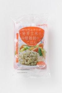 からだよろこぶ発芽玄米と9種雑穀のごはん 160g×3袋入