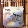 【eco-BAG】---LADY & SKULL  (女とドクロ)---
