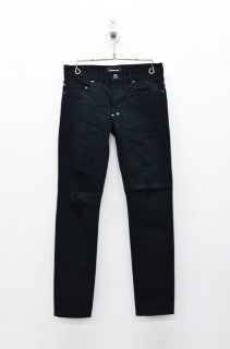 DIET BUTCHER SLIM SKIN Damaged skinny denim pants - BLACK