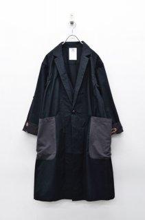 STOF ビッグポケットレイヤーコート - BLACK