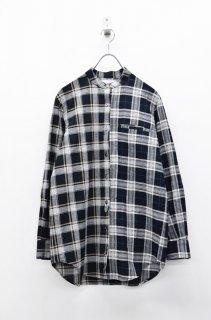 STOF ミックスチェックシャツ - BLACK