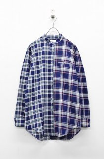 STOF ミックスチェックシャツ - BLUE