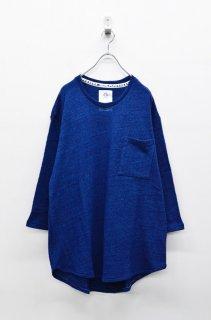 STOF ニットリラックスプルオーバー - BLUE
