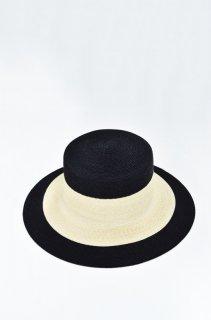 KAMILAVKA line border hat - BLACK