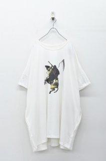 STORAMA キャンパスパネルワイドTシャツ - ナポレオン WHITE