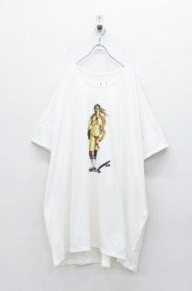 STORAMA キャンパスパネルワイドTシャツ - ヴィーナス WHITE