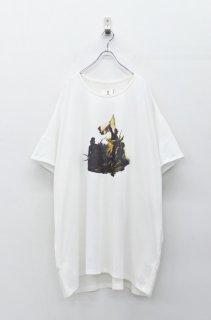 STORAMA キャンパスパネルワイドTシャツ - ジャンヌ WHITE