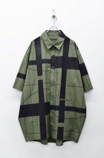 My Beautiful Landlet プリントビッグシャツ - OLIVE