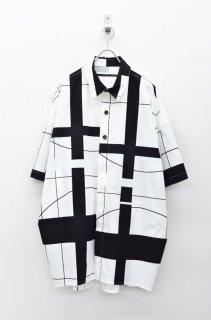My Beautiful Landlet プリントビッグシャツ - WHITE