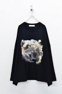 BALMUNG プリントビッグTシャツ (長袖) あのころ - 黒