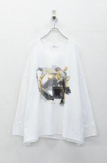 BALMUNG プリントビッグTシャツ (長袖) あのころ - 白