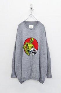 bedsidedrama × STAR WARS ポケットワイドセーター - GREY
