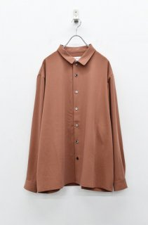 prasthana stretch gabardine shirt - REDBROWN