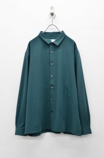 prasthana stretch gabardine shirt - GREEN