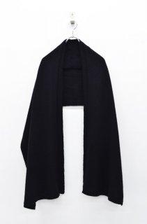 yoko sakamoto W SCARF - BLACK/BLACK