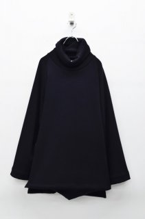 prasthana raised black turtle neck - BLACK