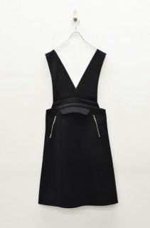 chloma エイドジャンパースカート -  BLACK
