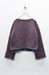 jens KNIT PULLOVER - WINE MIX