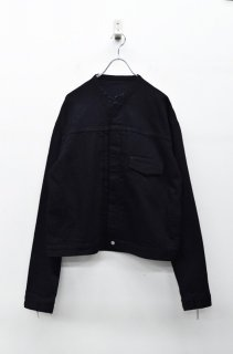 Luciole_jean pierre 1st type denim jacket - BLACK