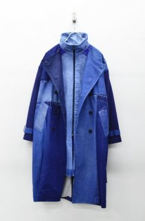 YEAH RIGHT!! PLAY! TRENCH COAT /DENIM HI-NECK LINING
