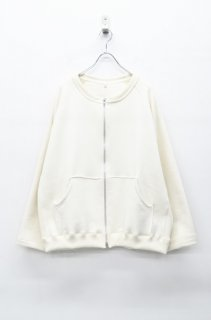 yoko sakamoto ZIP SWEAT SHIRT - NATURAL