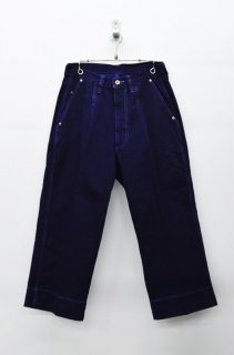 yoko sakamoto DENIM WIDE PANTS - OVER DYE
