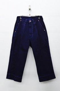 yoko sakamoto DENIM WIDE PANTS - OVER DYE