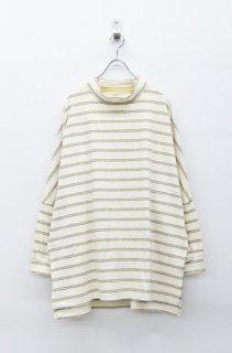 yoko sakamoto BORDER LONG TEE - WHITE