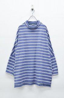 yoko sakamoto BORDER LONG TEE - BLUE