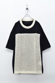 My Beautiful Landlet ニット切り替えTEE - BLACK