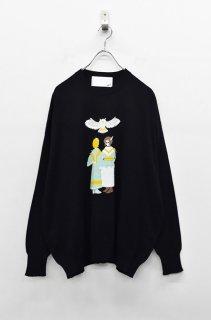bedsidedrama インディアンガールズセーター - BLACK