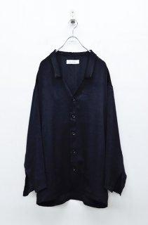 <img class='new_mark_img1' src='https://img.shop-pro.jp/img/new/icons59.gif' style='border:none;display:inline;margin:0px;padding:0px;width:auto;' />prasthana vintage satin shirts - BLACK