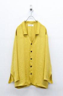 prasthana vintage satin shirts - MUSTARD