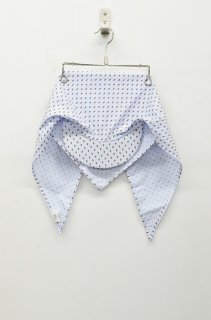 SIGHT LINE SHADE SCARF CAP  - LIGHT BLUE / DOT