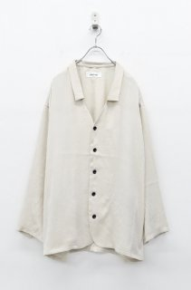 prasthana vintage satin shirts - LIGHT BEIGE (限定カラー)