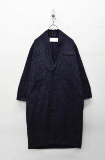 bedsidedrama メルティング刺繍ガウン - BLACK