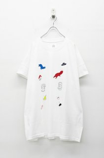 STOF 静物刺繍BIG Tシャツ - WHITE