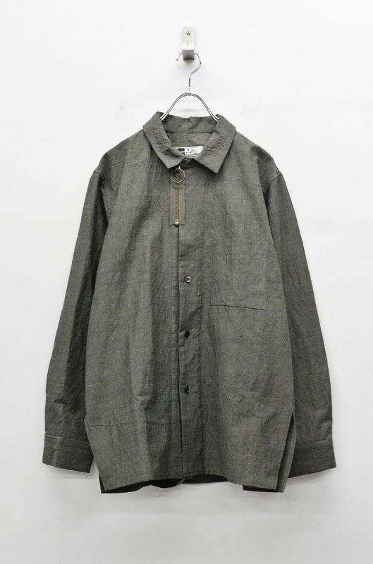 CITY コットンラミーシャツジャケット - SAND