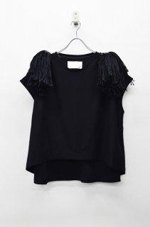 bedsidedrama チアリーダーTシャツ - BLACK