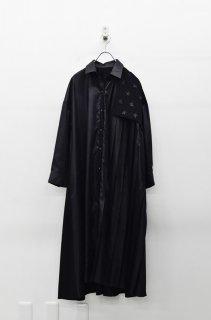 bedsidedrama 星条旗プリーツシャツドレス - BLACK