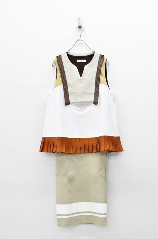 NON TOKYO 3WAYノースリーブプリーツドレス - WHITE