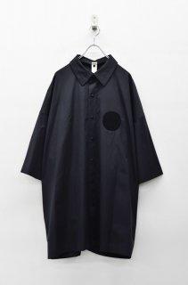 My Beautiful Landlet タイプライタークロスワイドシャツ - BLACK